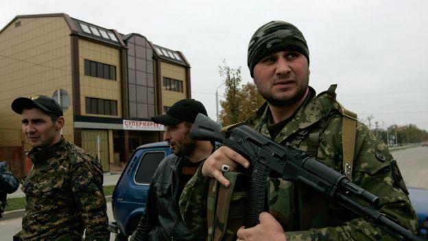 Военнослужащий в Чечне
