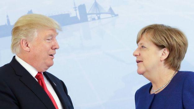 Donald Trump e Angela Merkel