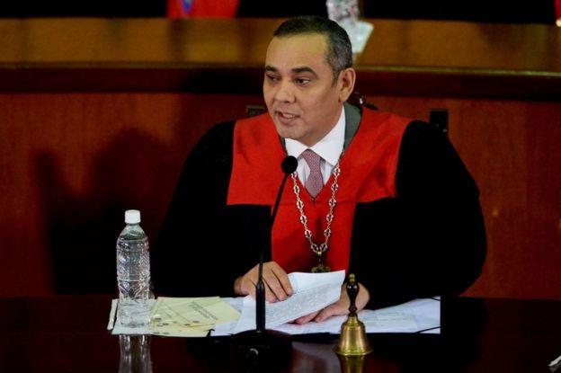 El presidente del Tribunal Supremo de Justicia de Venezuela Maikel Moreno.