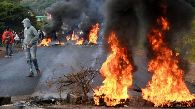 Protestas en Honduras.