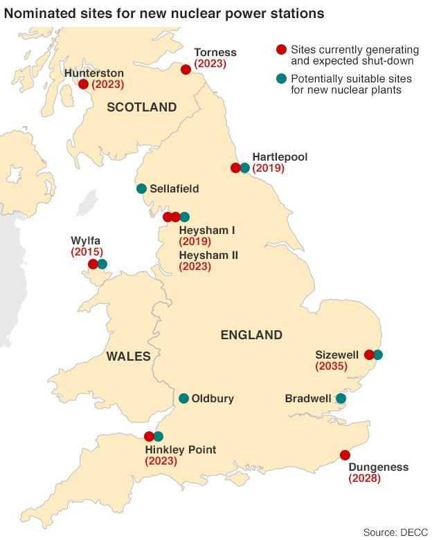 Why Does The UK Need China To Build Its Nuclear Plants BBC News - Us nuclear power plants location map