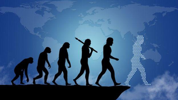 Ilustração da evolução