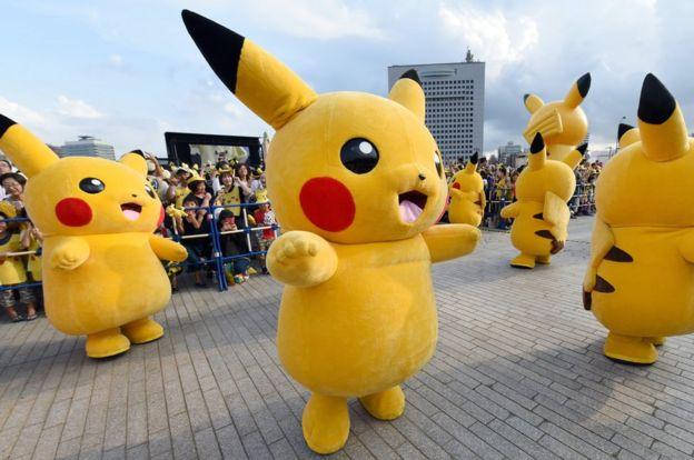 Pikachu en escena en Japón