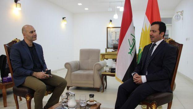 Mahmut Hamsici ve Goran partili Meclis Başkanı Yusuf Muhammed