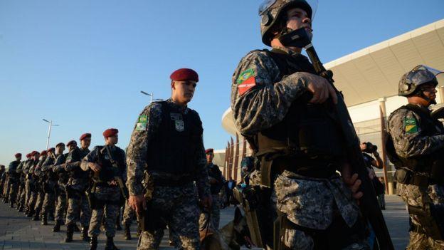 Agentes que atuarão na segurança da Olimpíada