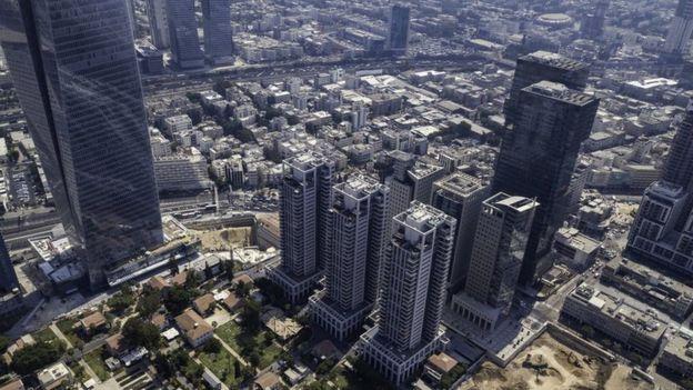 Imagem mostra vista geral de Tel Aviv