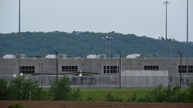 A view of a portion of the United States Disciplinary Barracks complex, where Private Chelsea Manning is being held, is seen at Fort Leavenworth, Kansas, U.S. May 16, 2017