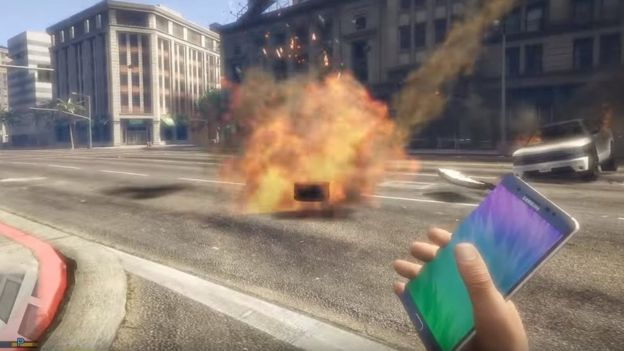 Samsung Galaxy Note 7 in Grand Theft Auto