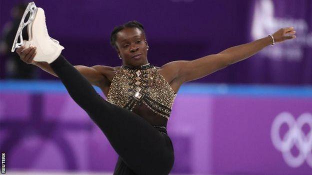 احتلت المتسابقة الفرنسية، ماي بيرينيس مايت المرتبة التاسعة في التزلج المفرد في البرنامج القصير.