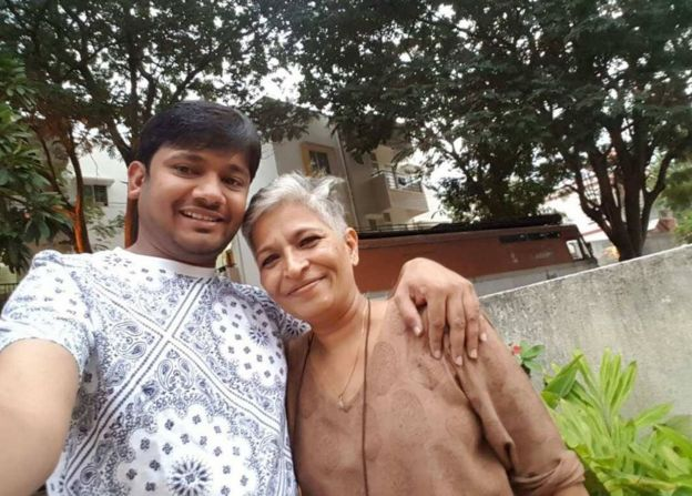 Gauri Lankesh with Kanaiya Kumar