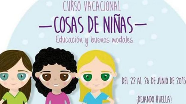 """Pontifical Bolivarian University advert from 2015, plugging its """"Girls' things"""" summer school"""