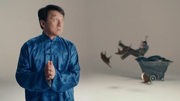 Jackie Chan in the Kung Fu Panoglin promotional video