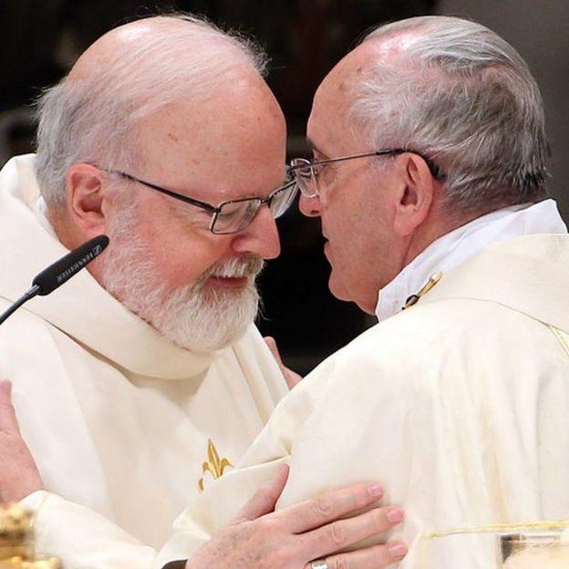 Cardenal O'Malley y el papa Francisco