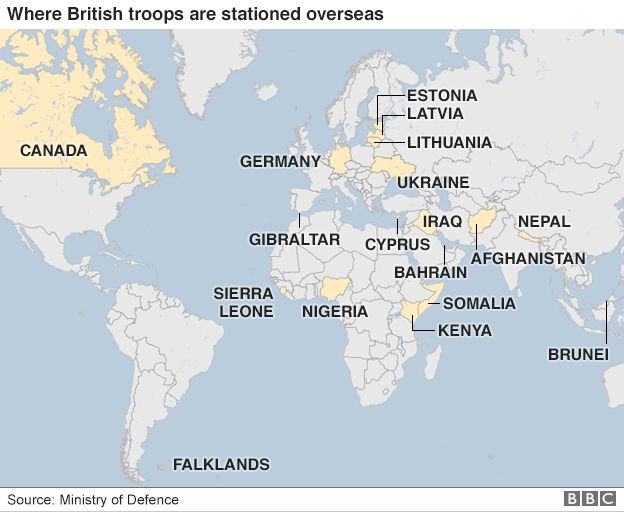 Where Are British Troops Deployed Overseas BBC News - Germany uk map