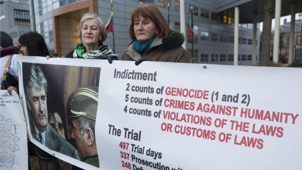 Пикет у суда над Ратко Младичем