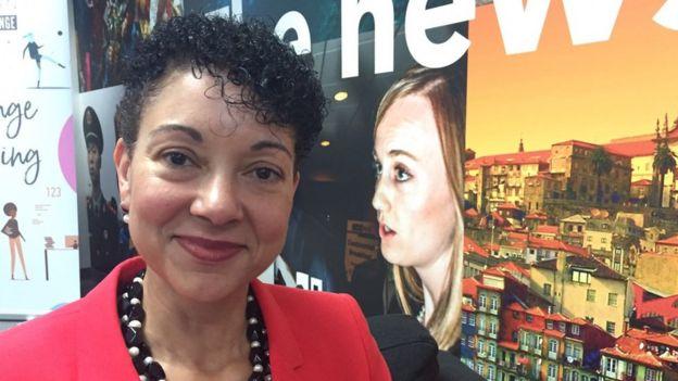 Shellye Archambeau, directora ejecutiva de MetricStream Inc. (Foto: Patricia Sulbarán)