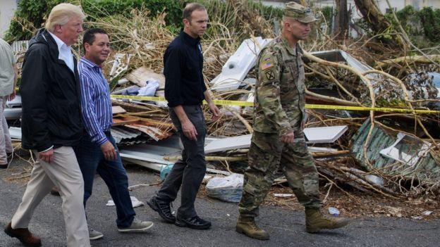 Donald Trump en Puerto Rico.