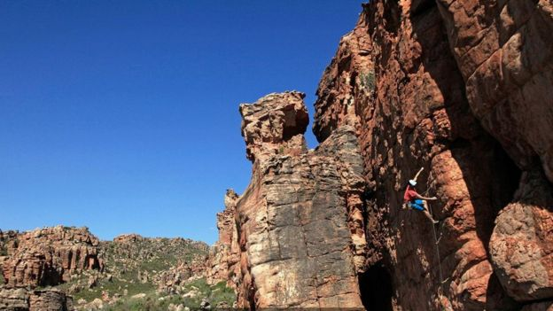 Escalada nas montanhas de Cederberg