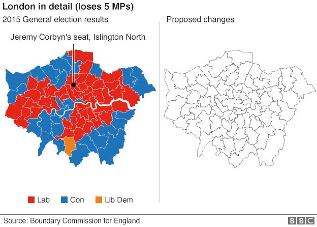Boundary Reform How Is Your Area Affected BBC News - Bbc election map us