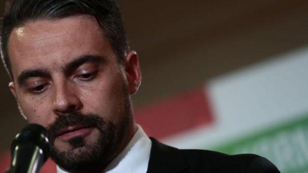 JOBBİK Genel Başkanı Gabor Vona seçimin ardından basın toplantısı düzenledi