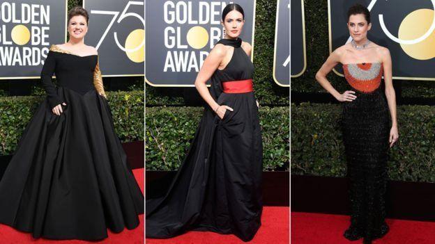 لباس سیاه ستارگان سینمایی به نشانه اعتراض