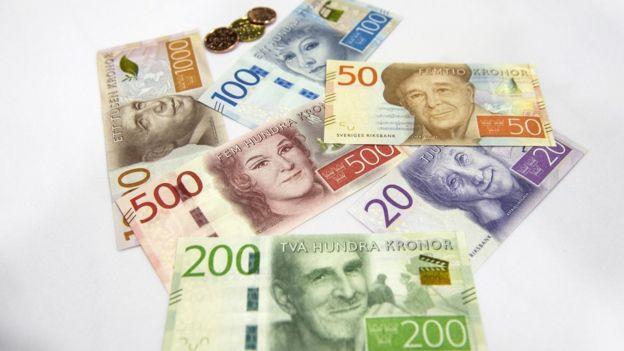Los nuevos billetes suecos.