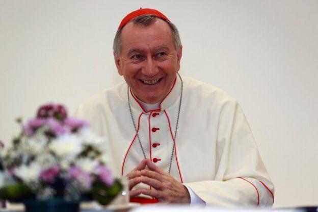 El cardenal Pietro Parolin, quien dirige la Secretaría de Estado del Vaticano, antiguo nuncio en Caracas, Venezuela.
