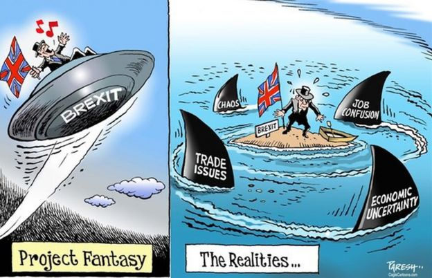 Paresh Nath's Brexit cartoon from the Khaleej Times was used in the Baden-Wuerttemberg Abitur taken by 31,000 students