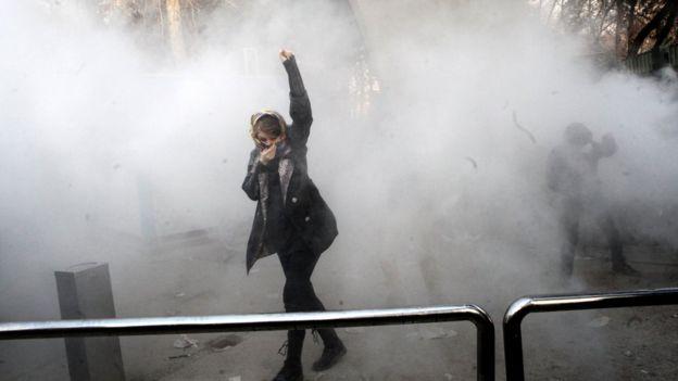 Protestor in Iran