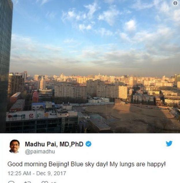 تلاش دولت چین برای کاهش آلودگی در پکن نیز در بهبود کیفیت هوا موثر بوده