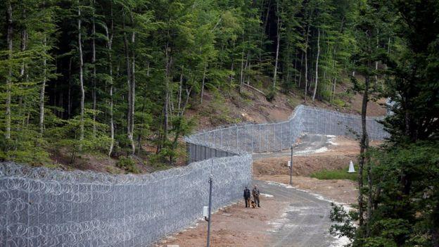 Fence near Malko Tarnovo, Bulgaria - 22 May 16