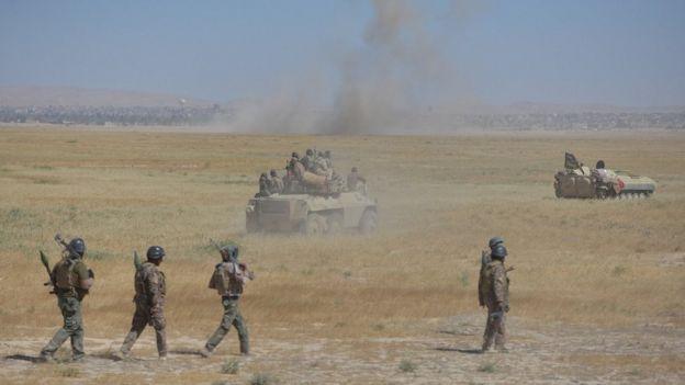 Haşdi Şabi ve Irak ordusu Telafer'e yaklaşırken