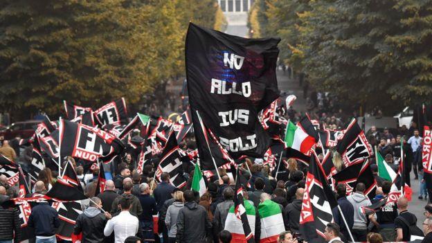 Manifestación extrema derecha