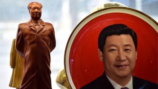 Mao Zedong and Xi Jinping souveniers