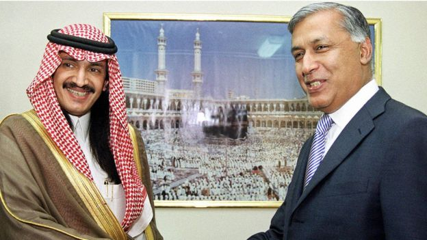 Prince Turki bin Bandar al Saud meets Pakistan's finance minister in 2003
