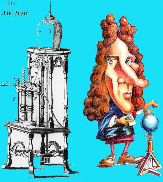 Robert Boyle y su bomba de aire