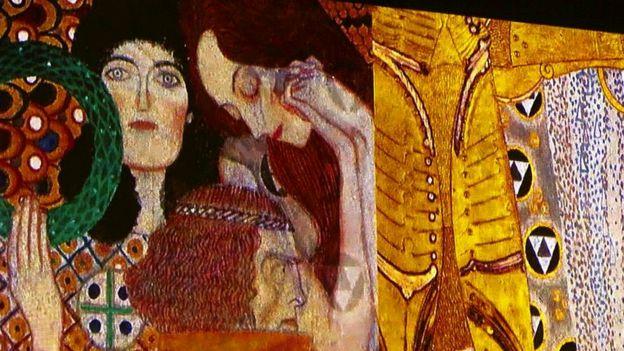 Detalle de obra de Gustave Klimt