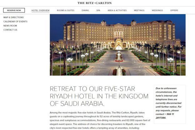 Foto: web del Ritz-Carlton de Riad