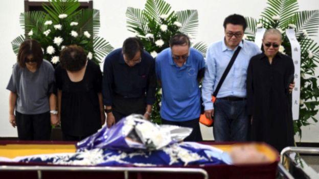 مراسم خاکسپاری لیو شیابو