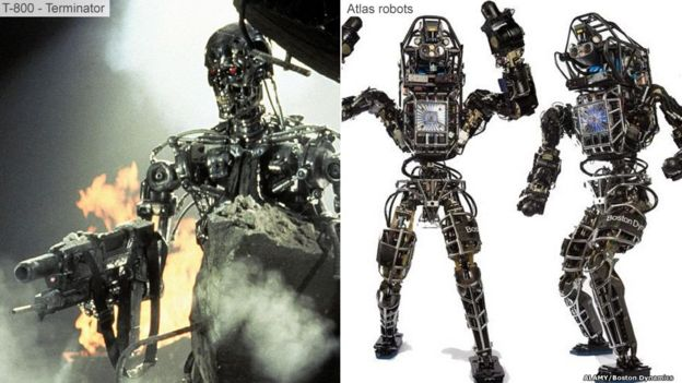 Terminator機器人和Atlas 機器人