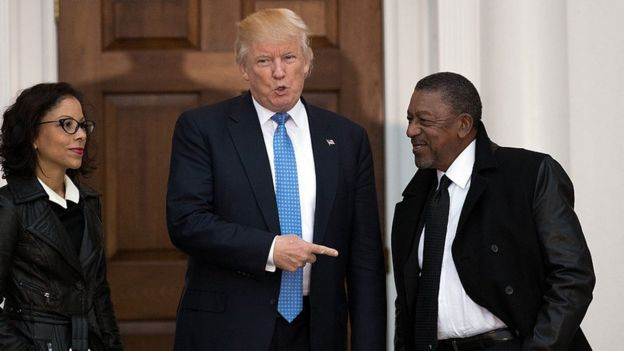 Donald Trump y Robert L. Johnson