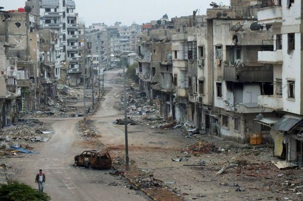 La ciudad de Homs, llamada