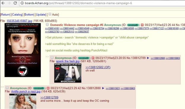 Screenshot from a 4Chan messageboard with instructions: Get pictures - search