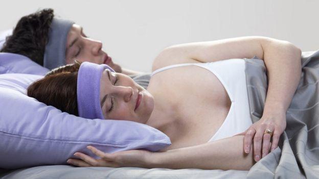 Woman using SleepPhones