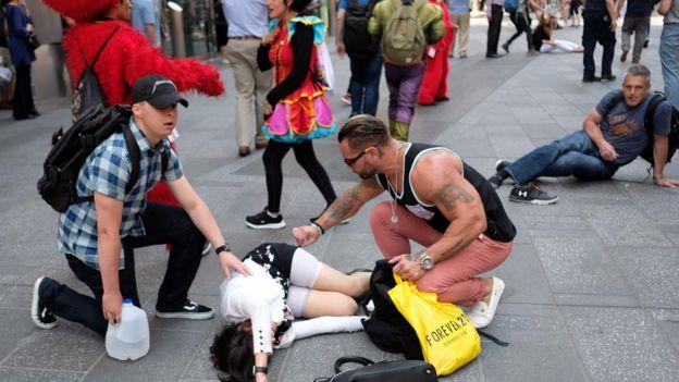 New York kaza yaralılar
