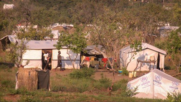 A settlement for refugees in Bidi Bidi, Uganda