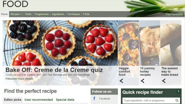 Bbc unveils shake up of online services including recipes website the bbc food website forumfinder Choice Image
