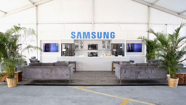 Casa Samsung en una exposición de Nueva York