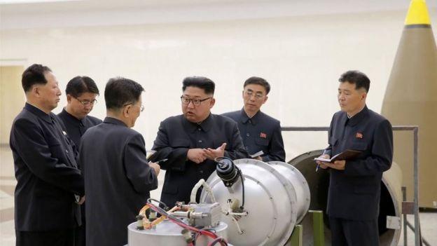 Fotografías publicadas por la agencia central de noticias de Corea del Norte.