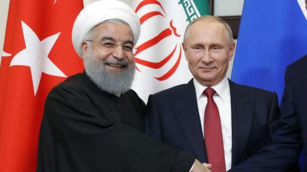 Putin y Rouhani